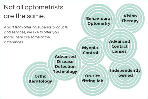 Not all optometrists are the same